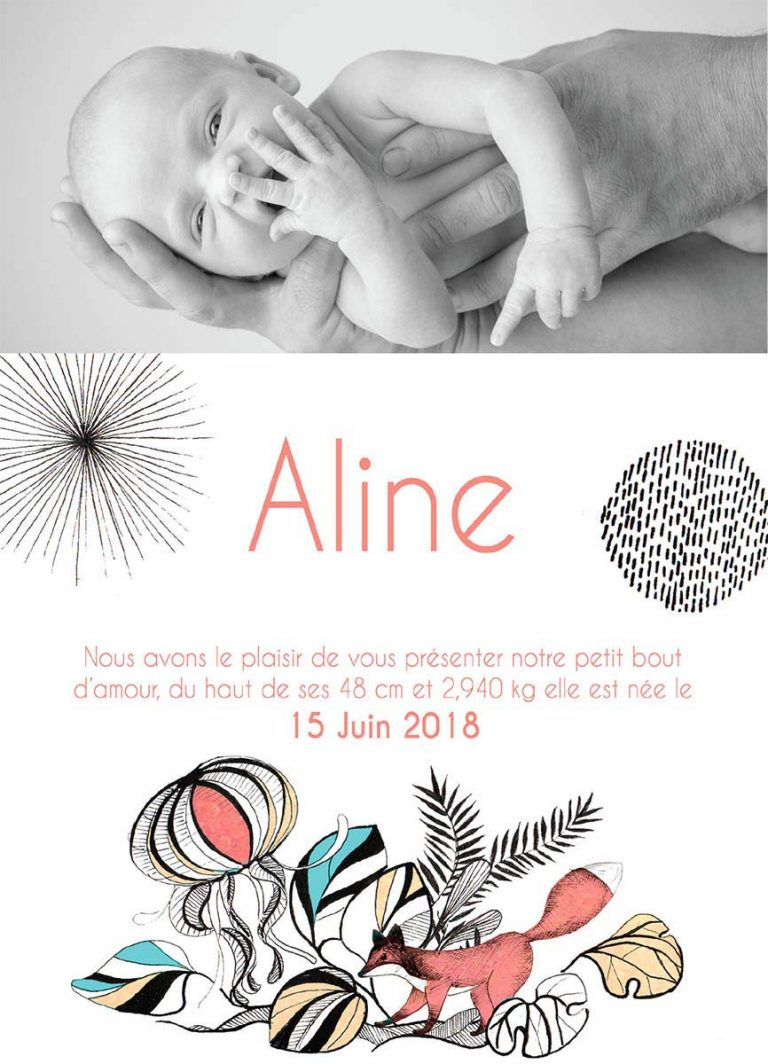 Aline faire part naissance