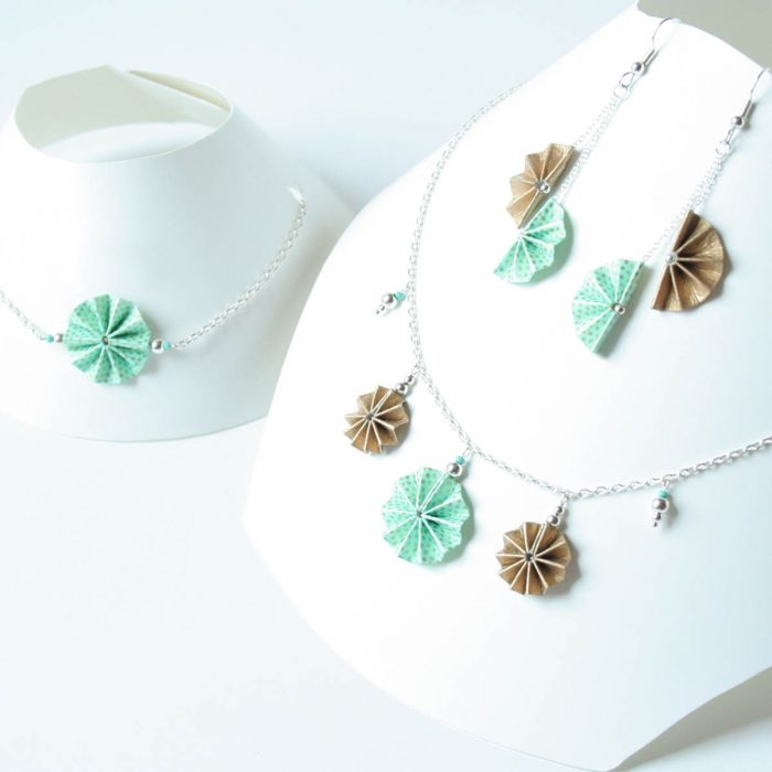 Parure turquoise d'or