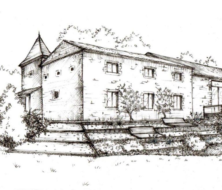 portrait de maison